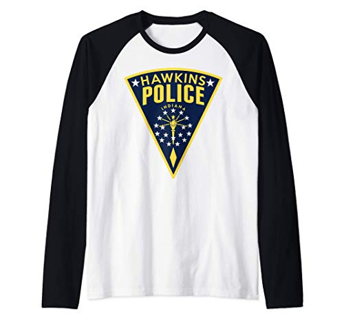 Netflix Stranger Things Hawkins Police Patch Camiseta Manga