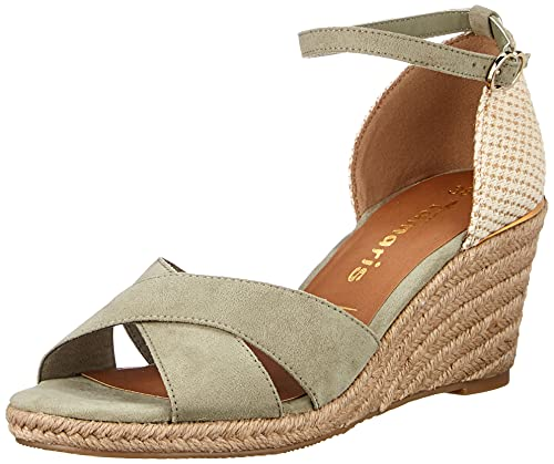 Tamaris Damen Sandalette 1-1-28026-36 763 grün normal Größe: 39 EU