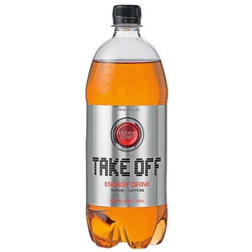 6 Flaschen Take Off Energy Energie Drink a 1000 ml in Petflasche inc. 1.50€ EINWEG Pfand