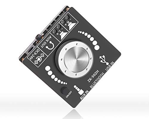 OWAYKEY Mini Amplificatore Bluetooth 50 W+50 W Dual Channel Uscita di Potere, Bluetooth+AUX+Ingresso USB