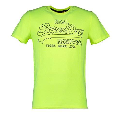 Superdry Herren VL Outline POP Tee T-Shirt, Gelb (Neon Yellow 24K), XX-Large
