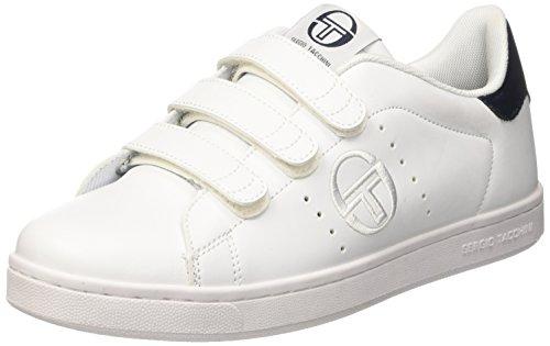 Sergio Tacchini Gran Torino Velcro, Sneaker a Collo Basso Uomo, Bianco (White/Navy), 46 EU