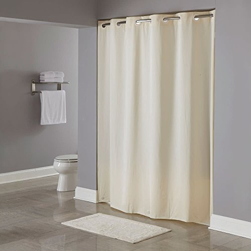 Hookless Pin Dot 71 X 74 Vinyl Shower Curtain HBH04PDT05 Beige