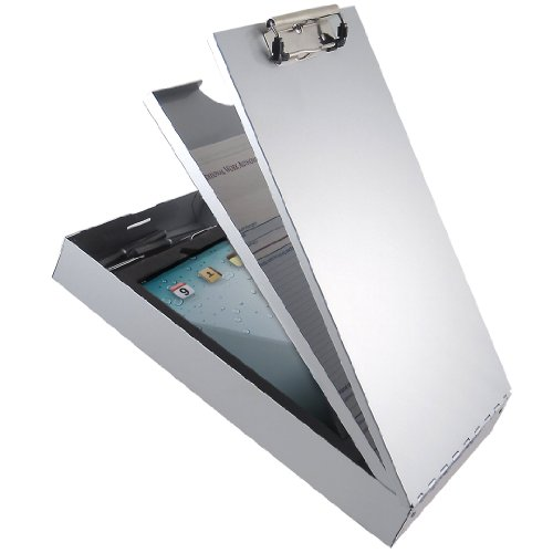 Saunders Cruiser-Mate II 21119 Recycled Aluminum Storage Clipboard - Silver, Legal Size, 2.25 in. x 9.25 in. x 16.25 in. Document Holder with Self Locking Latch, Dual Tray Storage