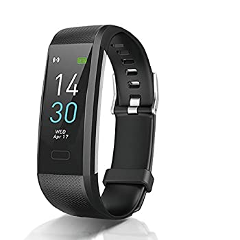 Fitness Tracker with Heart Rate Blood Pressure Blood Oxygen Sleep Monitor Temperature Monitor Activity Tracker Smart Watch Pedometer Step Counter for iPhone & Android Phones for Kids Man Women Black