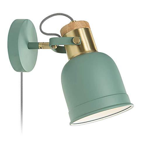 YLCJ An der Wand befestigte Wandlampe E14 führte Nachttischlampe Schlafzimmerleselicht mit Kabelschalter helle Wandlampe15 * 20 * 16cm (5.91 * 7.78 * 6.3inches) (Farbe: A)