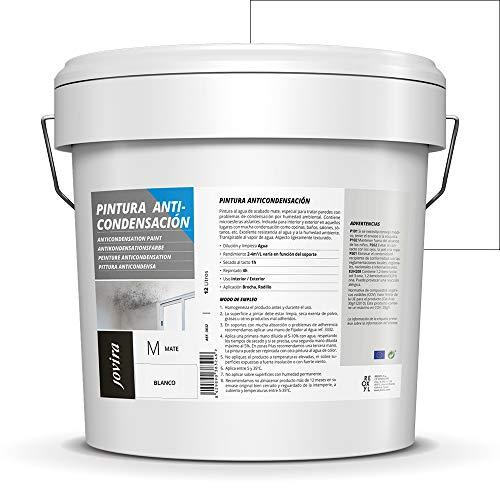 ANTICONDENSACION Antihumedad antimoho exterior-interior. Eficaz para paredes de yeso, hormigón, cemento. (4 L)