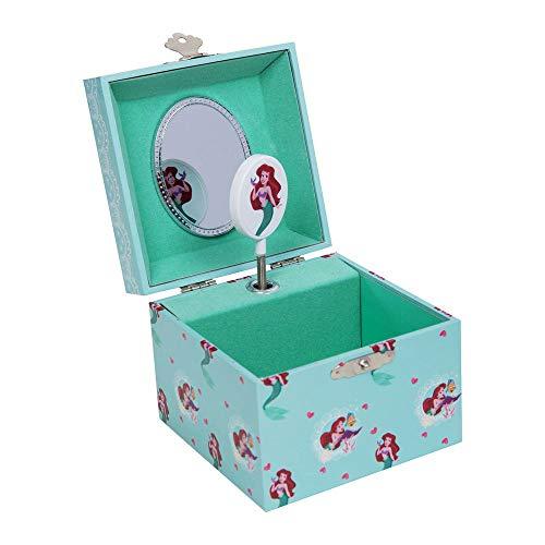 Widdop Disney Princess Ariel Little Mermaid Small Cube Musical Jewellery Box Girls Gift DI710