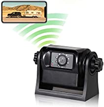 EWAY WiFi Magnetic Hitch Wireless Backup Rear/Front View Camera Rechargeable Battery for Easy Hitching of Gooseneck Horse Boat Travel Trailer/Fifth Wheels/RV/Camper Reverse for iPhone iPad Android