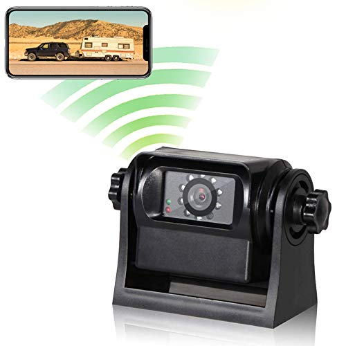 EWAY WiFi Magnetic Hitch Wireless Backup Rear/Front View Camera Rechargeable