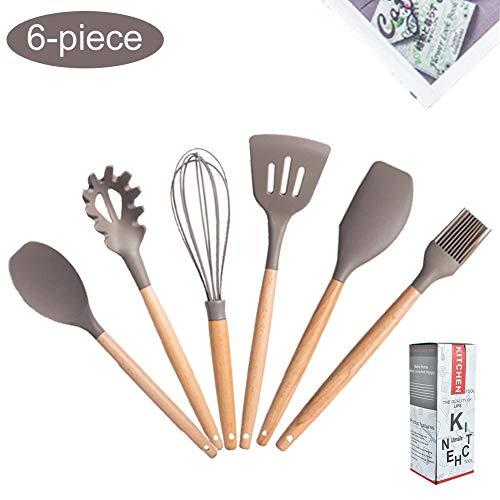 YORKING 42 Pcs Kitchen Nylon Cooking Utensils Set Non-stick Turner Black Set meat forks chef slotted Turner cooking tongs etc