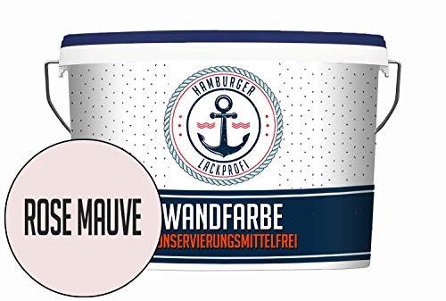 Hanse Wandfarbe KONSERVIERUNGSMITTELFREI Rose Mauve matt Rosa Innenfarbe Dispersionsfarbe HOCHDECKEND & GERUCHSARM (2,5 L)