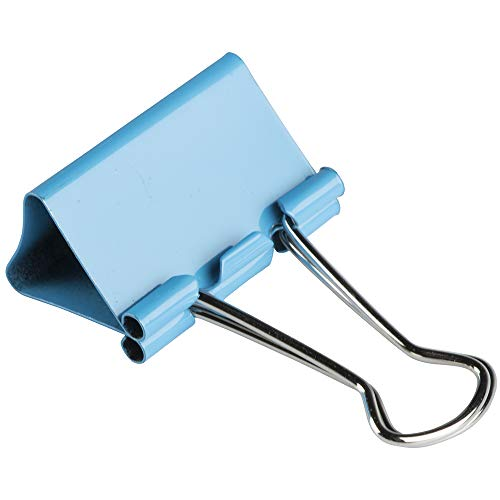 JAM PAPER Colorful Binder Clips - Medium - 1 1/4 Inch (32 mm) - Blue Binderclips - 15/Pack Photo #5