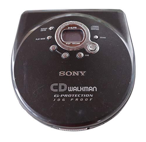 Sony D-EJ 715 tragbarer CD Spieler Discman in schwarz