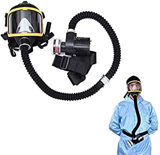 Reusable Adjustable Full Face Cover Head Mask Ventilative Biochemical Gas Mask For Painting, Dust, Particulate, Machine Polishing, Welding And Other Work