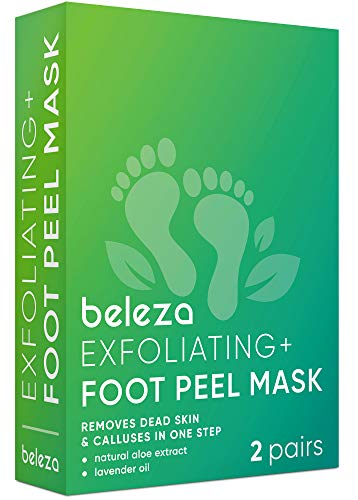 Foot Peel Mask 2 Pack for Smooth Soft Touch Feet - Peeling Away Calluses - Dead Skin Remover - Exfoliating Off Foot Mask for Baby Soft Silk Feet - Gel Socks Booties