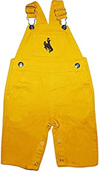 Creative Knitwear University of Wyoming Cowboys Baby Overalls Gold