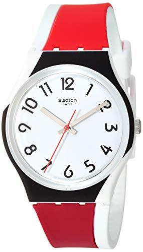 Swatch 1907 BAU Quartz Silicone Strap, White, 17 Casual Watch (Model: GW208)