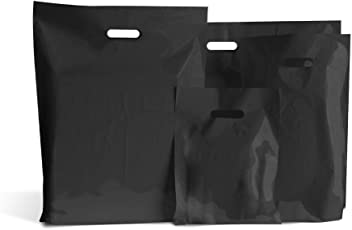 """Standard Plastic Carrier Bags Shocking Pink Small 9/"""" x 12/"""" Pack Of 200"""