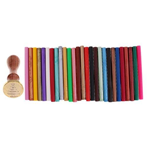 F Fityle 10X Leim Sealing Wax Sticks Set für Wax Seal Stamp für Hochzeitseinladungen, Kartenumschläge, Schneckenpost, Weinpakete, Geschenkideen