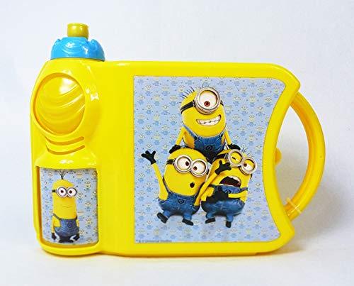 div 88287 Lunchbox Minions mit Trinkflasche, Vesperdose, Brotdose und Flasche im Set, ideal für Kindergarten und Schule, Minion