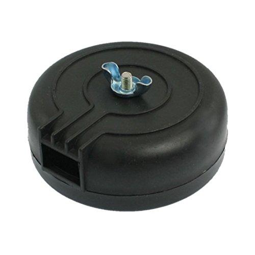 Silenciador - SODIAL(R) PT 1/2, macho plastico negro para Filtro de aire del compresor
