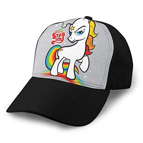 Hongyan Baseballkappe My Little Pony und Rainbow Brite Mashup Dad Hut verstellbar atmungsaktiv für Männer Frauen