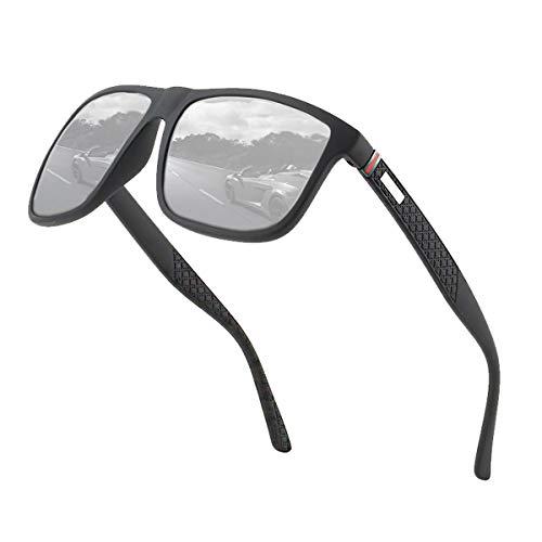 Perfectmiaoxuan Polarisierte Sonnenbrille Herren/Damen ; Vintage/Klassisch/Elegant Brillengestell; HD-Pilotobjektive; Golf/Fahren/Angeln/Reisebrille/Outdoor-Sportarten Mode Sonnenbrille (【A1】 Silber)