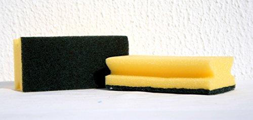Vlies-Schwamm Industrie Topfreiniger Abrasive gelb, grün (10 Stück) Sponge Schwämme Spülschwamm Putzschwamm Küche Bad Reinigungsschwamm Küchenschwamm Haushaltsschwamm Topfschwamm mit Pad für Abwasch