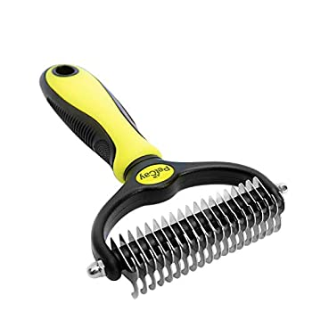 PetCay brosse pour chien et chat, Cheveux moyen à long, toilettage pour animaux poil feutre, enleve sous-poil mort