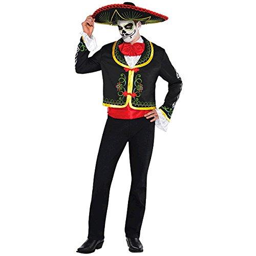 Neuf pour Homme Amscan Le Capteur d'halloween Jour des Morts Fancy Dress Party Costume