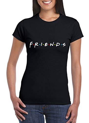 UZ Design Camiseta Friends Mujer Chica Niña Amigas Serie TV Años 90, Mujer - L