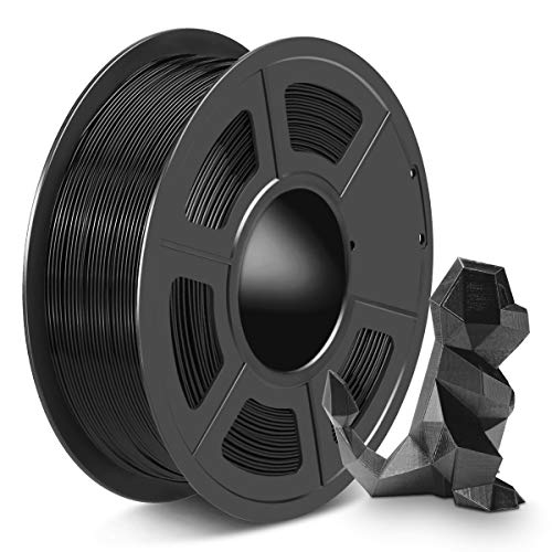 SPLA 3D Printer Filament 1.75mm, PLA Filament and PETG 3D Filament Mix Together, Shiny SPLA 1.75 Black, 1kg