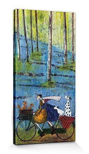 1art1 Sam Toft - Die Vier Jahreszeiten, Frühling Bilder Leinwand-Bild Auf Keilrahmen   XXL-Wandbild Poster Kunstdruck Als Leinwandbild 60 x 30 cm