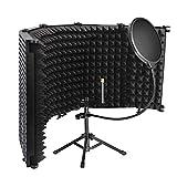 jinjiang scudo di isolamento microfono di registrazione con filtro pop protezione del suono pieghevole studio e la maggior parte delle apparecchiature di registrazione del microfono a condensatore.