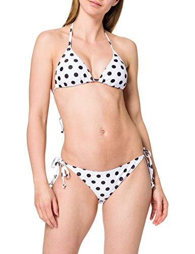 Urban Classics Ladies Pattern Bikini Juego, Polkadots White, M para Mujer