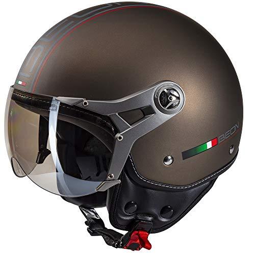 Beon Design Luxe Helm - Motorradhelm - Jethelm - Bronze - XL / 61-62 cm