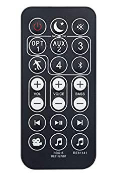 Replaced Remote Control Control Compatible with Polk Audio Magnifi One Magni-fi Sound Bar 1 RE8114-1 RE81141 RE8112-1 RE81121 RTRE81121 RE6915-1 RE69151 RTRE69151 SB1 SB1+ Omni SB1 OMNISB1
