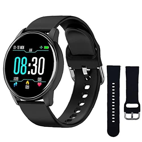 pulsera de reloj inteligente inteligente inteligente Relojes de silicona Deportes ZL01 con Negro correa de repuesto rastreador de ejercicios de ritmo cardíaco Prueba podómetro Hombres Negro