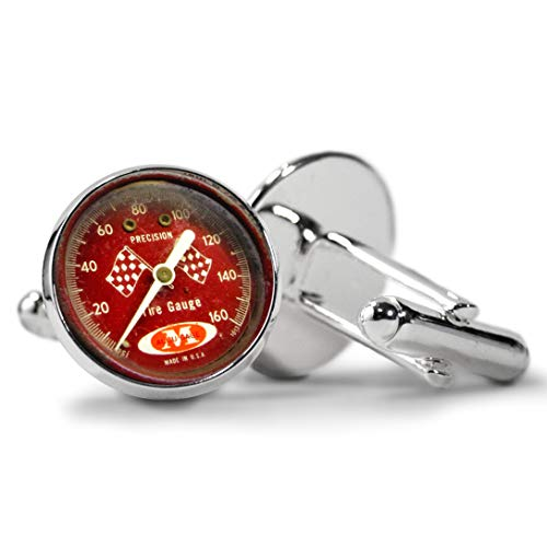 Accu-Gage RRA15X Low Pressure Tire Pressure Gauge with Protective Rubber Guard Right Angle Chuck 15 PSI