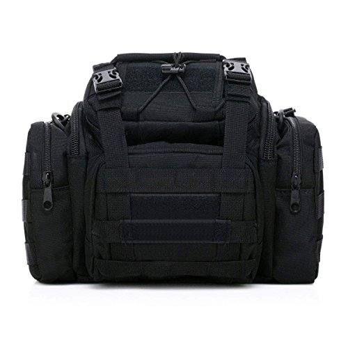 Greenpromise Paquete de cintura táctica al aire libre Militar Molle bolsa de asalto Trekking Senderismo Bum Hip Pocket Ruck Bag Bolsas de transporte (negro)