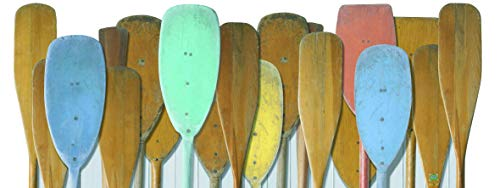 Plage Remos de Oxford Cabecero de Cama Adhesivo, Tela, Multicolor, 160x60 cm