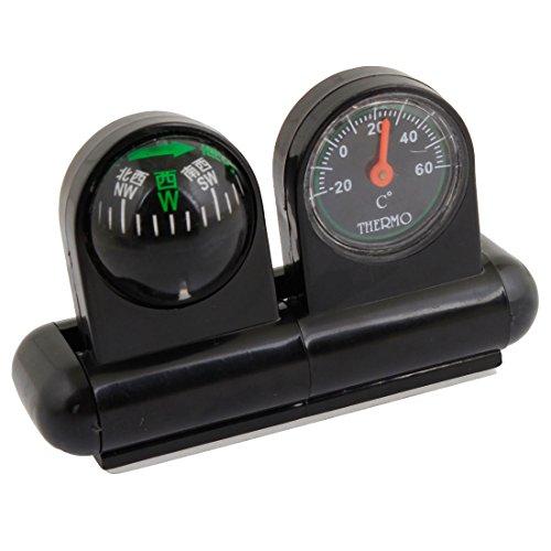 Sourcingmap Support Voiture pour Thermomètre Boussole-Noir