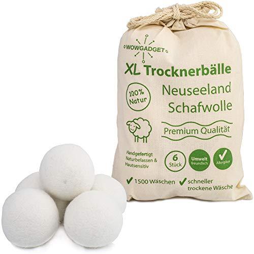 Trocknerbälle, hochwertige Neuseeland Schafwolle für Wäschetrockner, umweltschonend, schnell trockene Wäsche, geeignet für Daunen, naturbelassen, natürliche Alternative zum Weichspüler (4 Stück)