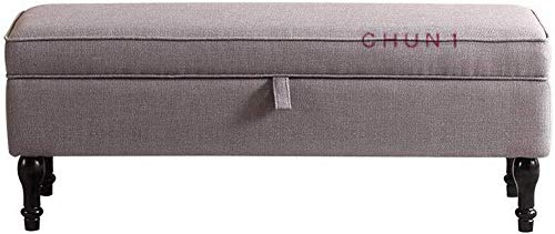 CHU N1 Aufbewahrungsbank, Leinengewebe Schuhmöbel Lagerung Lang Fußbank Sitz 100 cm X40cmX 45cm (Lx Wx H) 126 (Color : 1, Size : 90cm)