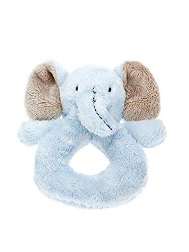 Mousehouse Gifts Hochet éléphant en Peluche Bleu Clair pour bébé garçon