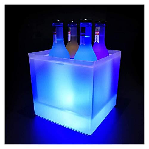 Cubo De Hielo, Luz LED, Tubo De Ensayo Cuadrado, Vino, Champán, Cóctel, Barril, Enfriador De Vino Duradero, Enfriador De Cerveza para Fiestas, Bar Y Hogar