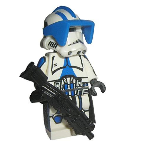 Custom Brick Design 501st Legion Assault Clone Trooper Figur V.1 - modifizierte Minifigur des bekannten Klemmbausteinherstellers und somit voll kompatibel zu Lego