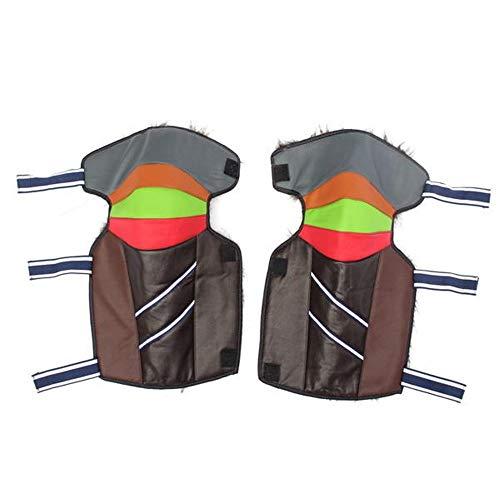 Gyubay Rodilleras Engrosamiento de la PU Rodilleras esquí Protectores Scooters eléctricos Motocicleta...
