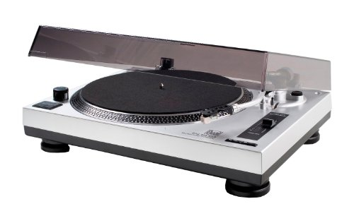 Dual DTJ 301 USB DJ-Plattenspieler (33/45 U/min, Pitch-Control, Magnet-Tonabnehmer-System, Nadelbeleuchtung, USB) silber